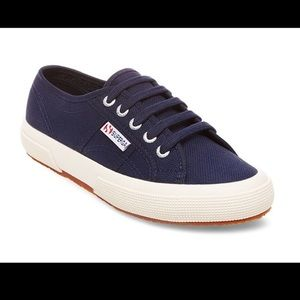 Superga Navy Blue Classic Sneakers
